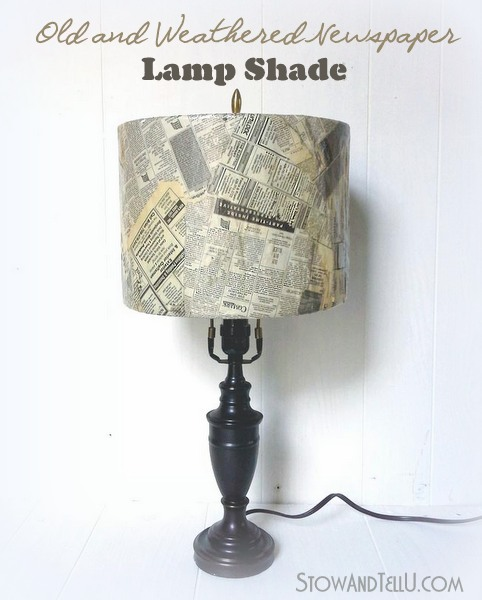 decoupage-old-newspaper-lamp-shade-https://stowandtellu.com