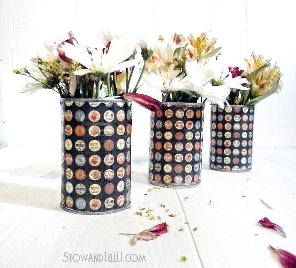 decoupage-tin-cans-flowers-vase-https://stowandtellu.com