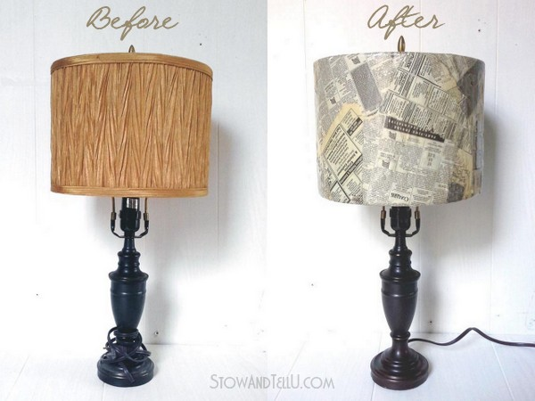 diy-old-newspaper-lamp-shade-https://stowandtellu.com