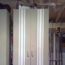 grain-sack-stripe-painted-furniture-storage-cabinet-basement-gameroom-http://stowandtellu.com