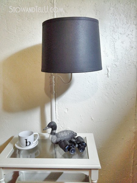 Left Over Primer Painted Table Lamp Makeover Stow Tellu