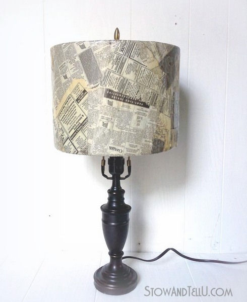 old-newspaper-lamp-shade-craft-https://stowandtellu.com