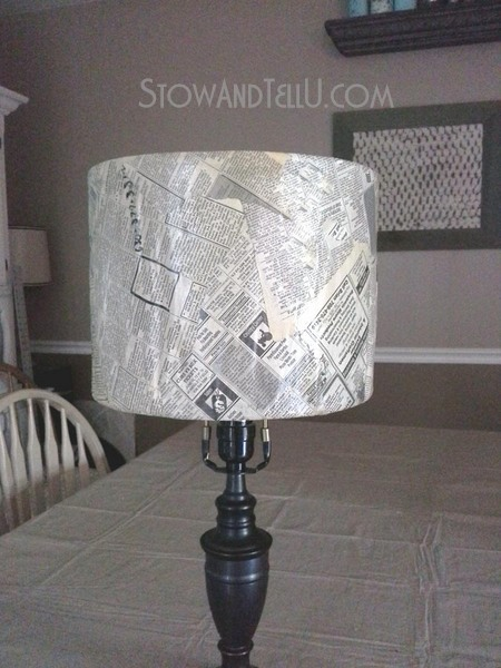 vintage-newspaper-craft-lamp-shade-https://stowandtellu.com