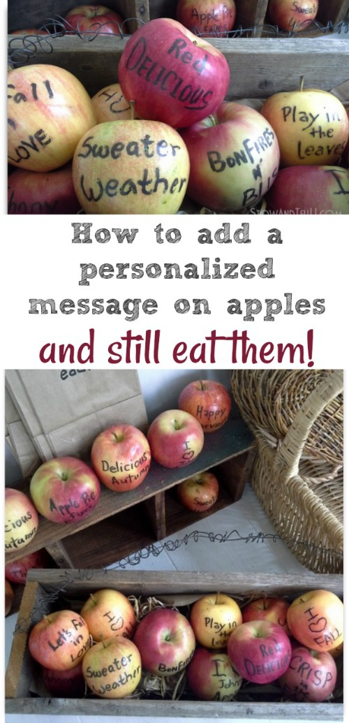 Using Edible Marker on Apples | How to write on apples and other fruit | stowandtellu.com