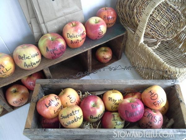 fall-wedding-edible-writing-apples-https://stowandtellu.com