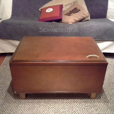 Upcycled Kitchen Cabinet Coffee Table