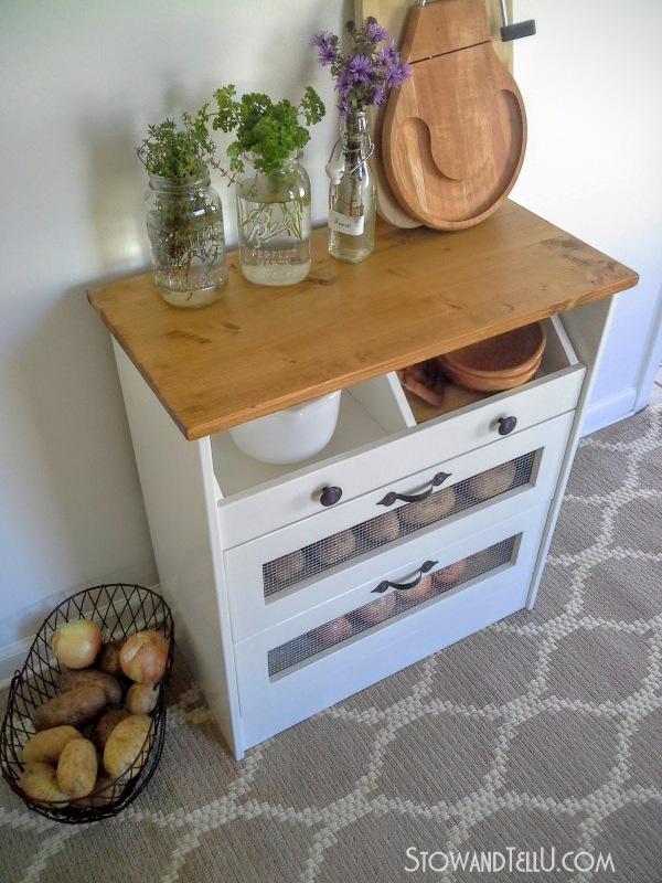 Wood Storage Chest Makeover