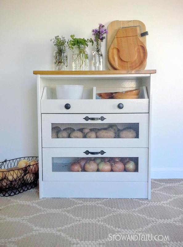 Potato And Vegetable Bin Ikea Rast Hack Stow Amp Tellu