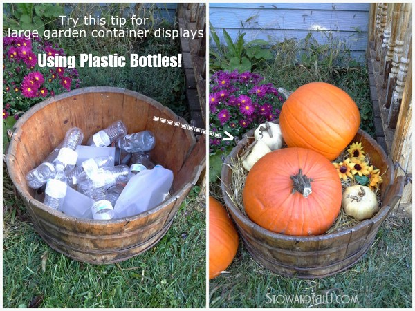 large container party displays, gardening tips