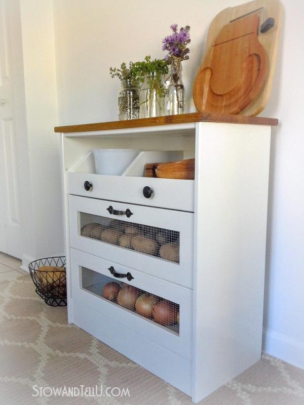 Potato And Vegetable Bin Ikea Rast Hack Stow Amp Tellu