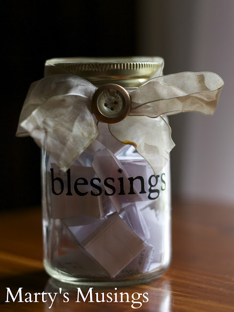 The best part of Thanksgiving for the kids in our family is when we go around the table and get to say what we are thankful for. Here are 10 easy crafts to help kids say thank you on Thanksgiving. Blessing-Jar-Martys-Musings