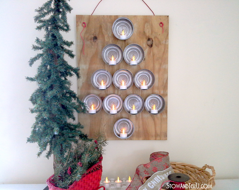 Upcycled Tuna Can Christmas Tree