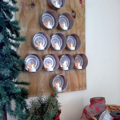 Lighted Tuna Can Christmas Tree