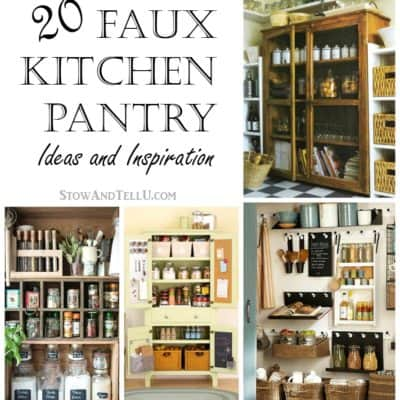 20 Faux Kitchen Pantry Ideas
