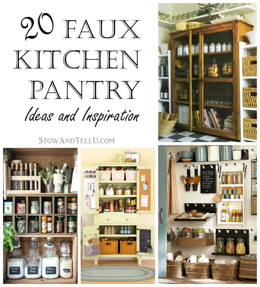 Design Pantry Ideas 20 faux kitchen pantry ideas stowtellu