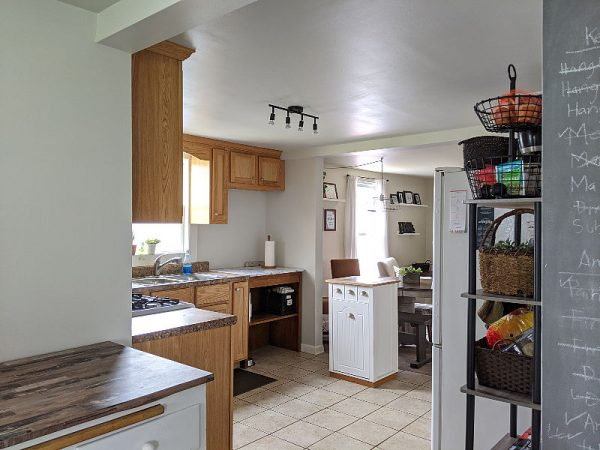 Finding kitchen counter space in small kitchen