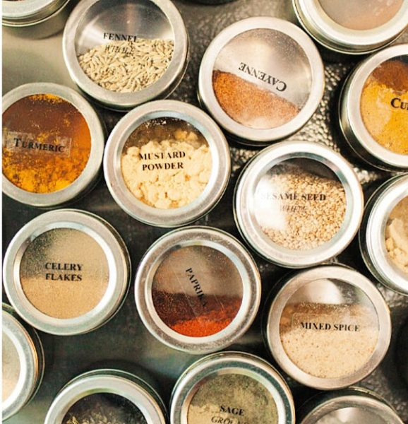 Fridge Mounted Spice Containers