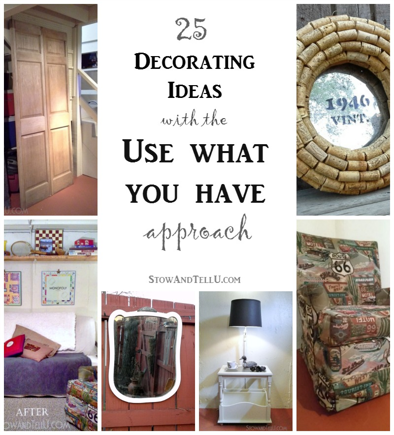 A Guide To Using Pinterest For Home Decor Ideas: Use What You Have Decorating Idea For A Basement
