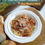 An easy one pot chicken cacciatore recipe, that can be made in advance and cooked on low for several hours in the oven or in the crock pot - StowandTellU.com