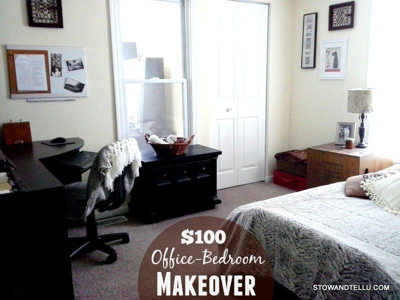$100-diy-office-bedroom-makeover - StowandTellU.com