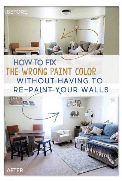 How to fix wrong paint color without repainting