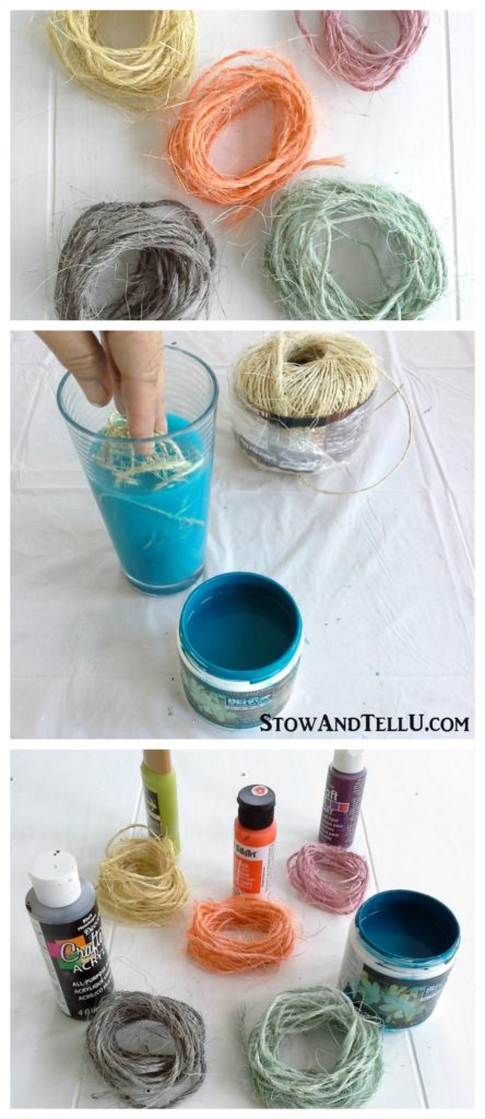 How To Dye Sisal Twine With Craft Paint