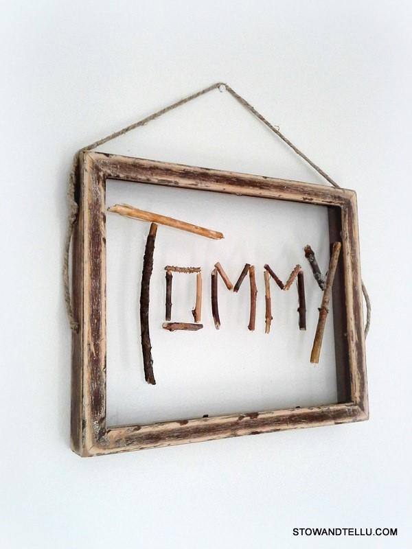 twig-name-art-kids-room - StowAndTellU.com