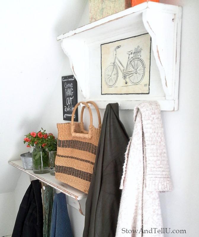 white-painted-coat-rack-shlef-bicycle-print-StowAndTellU.com