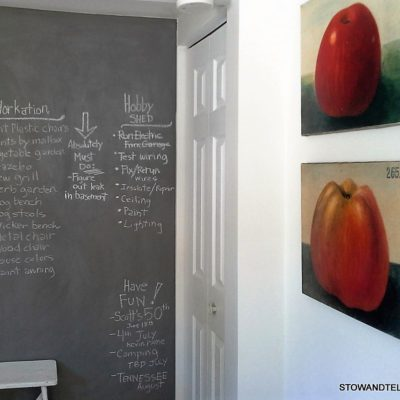 How bout them apples? and a Chalkboard Project Wall
