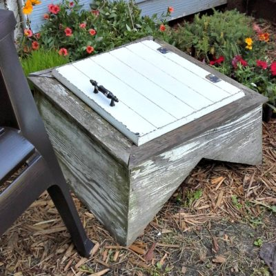 Upcycled Cupola Garden Table