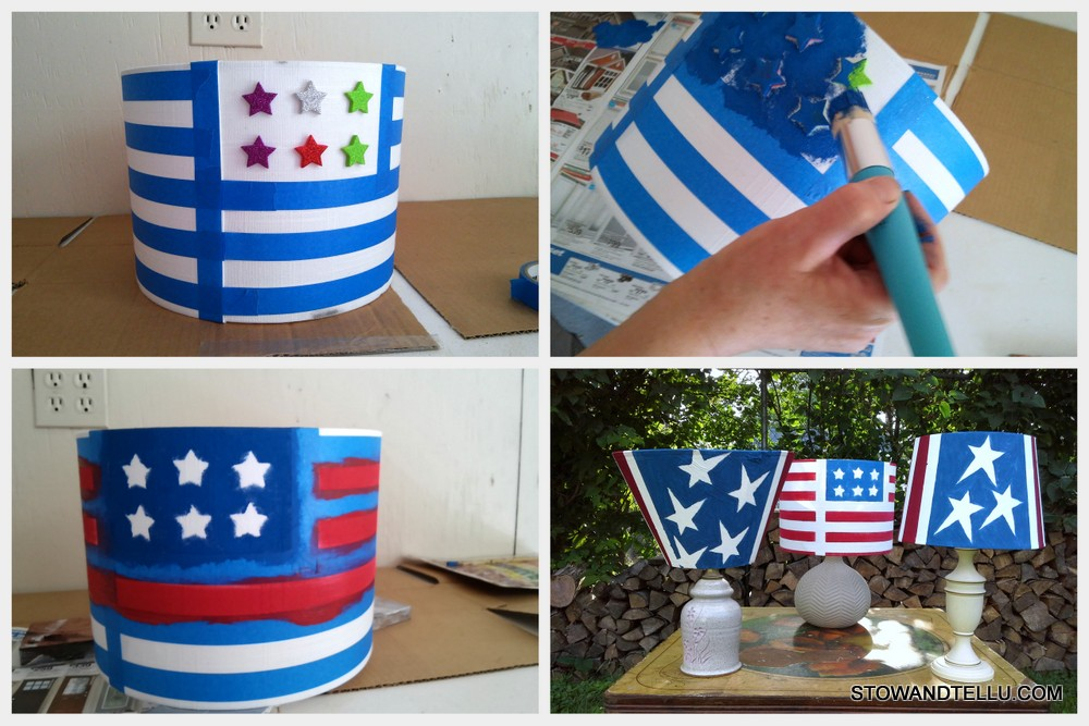 Patriotic Solar Lamp-Tutorial