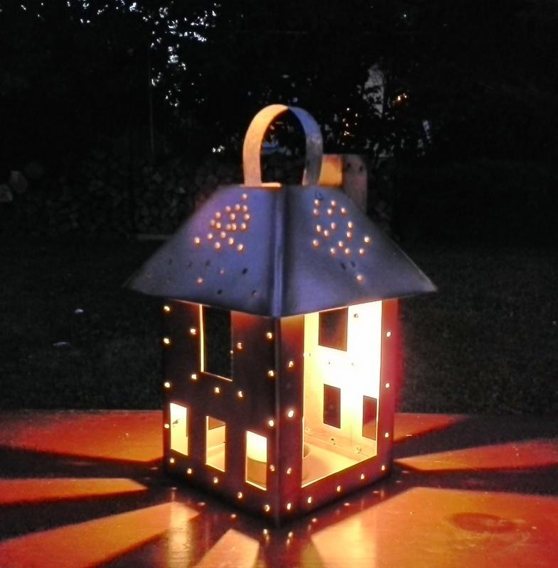 DIY Faux Punched Tin Lantern - StowAndTellU.com