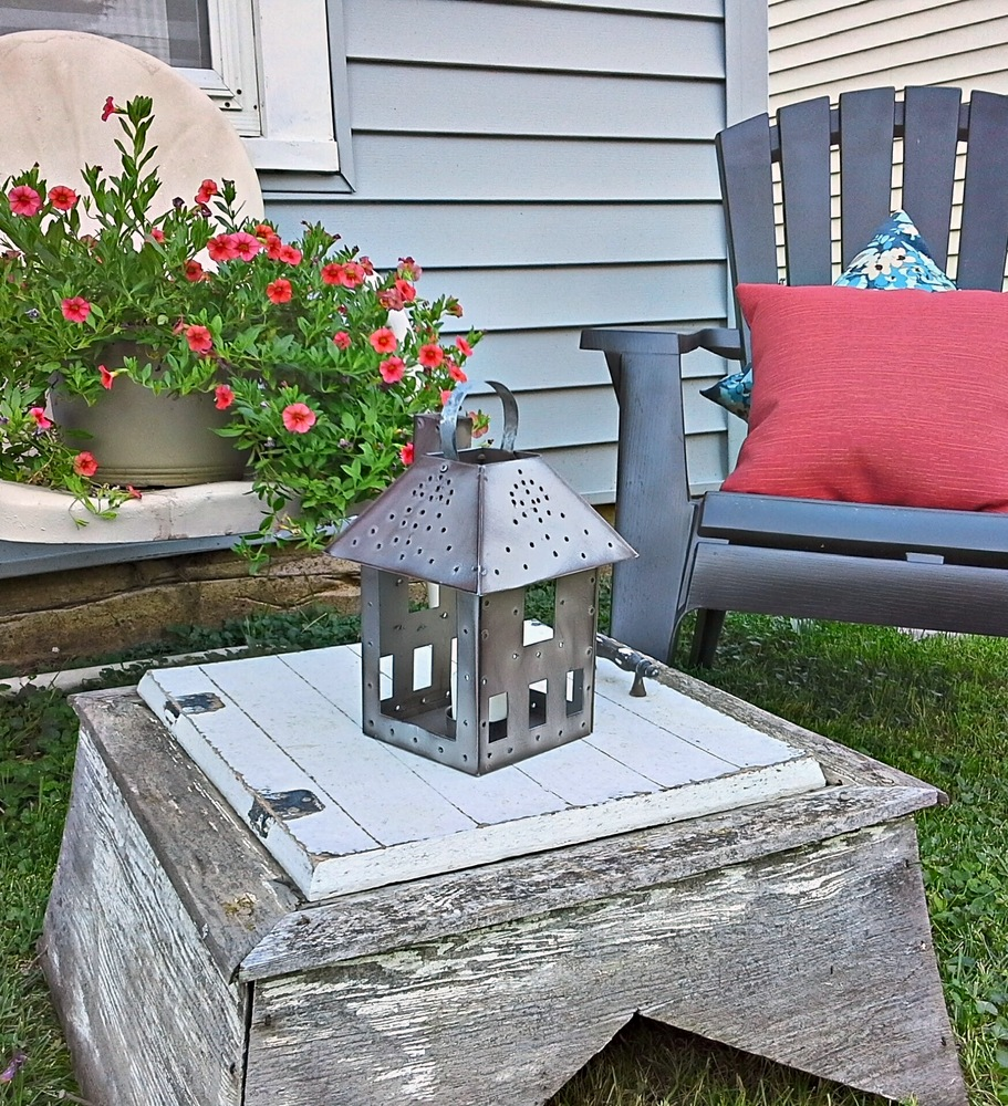 faux-punch-tin-lantern-patio - StowAndTellU.com