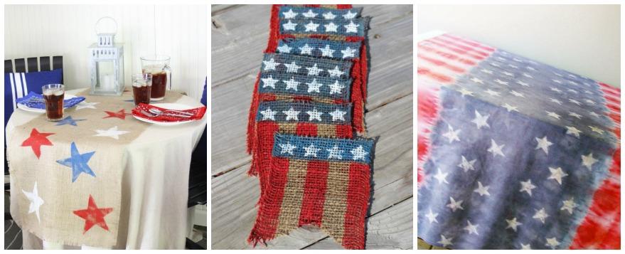 patriotic-table cloth - bunting ideas