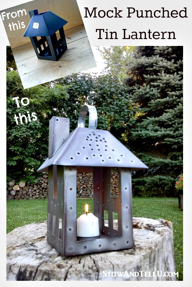 repurposed-faux-mock-punch-tin-lantern - StowandTellU.com