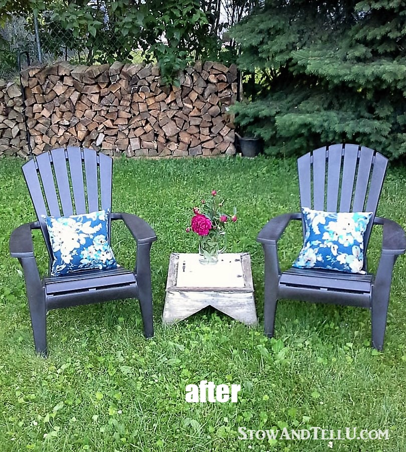 How To Paint Plastic Patio Furniture Chicpeastudio