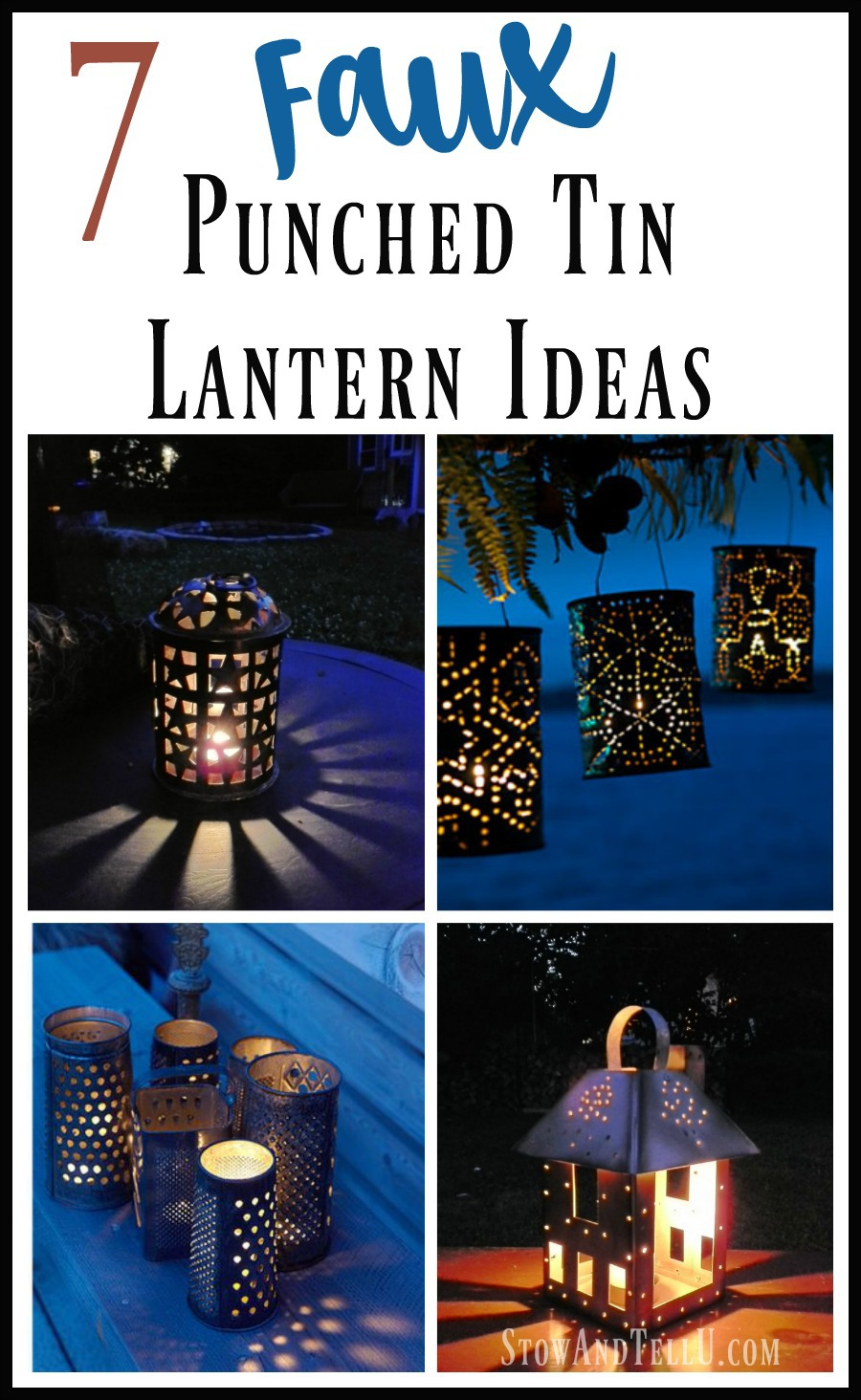 7 Faux Punched Tin Lantern Ideas - StowandTellU
