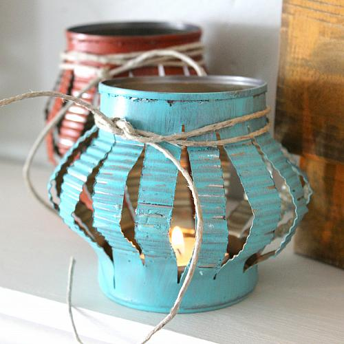 Fake tin can Chinese lantern -from DecoArt