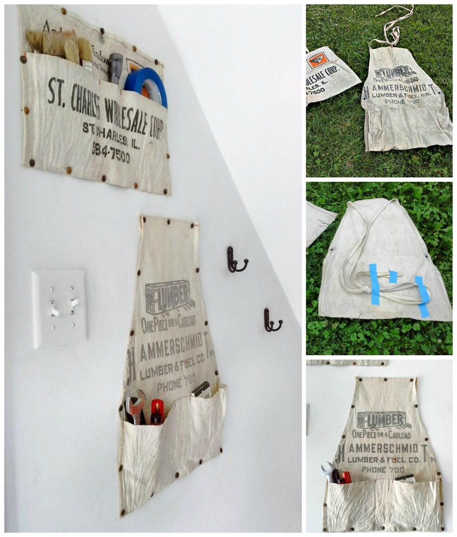 Hanging work apron storage - StowandTellUl.com