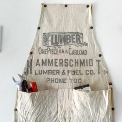 Vintage Work Apron Hanging Storage