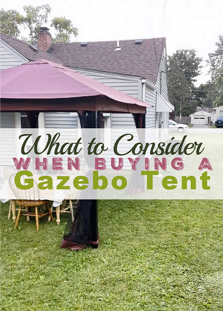 Tips to Consider When Buying Gazebo Tent