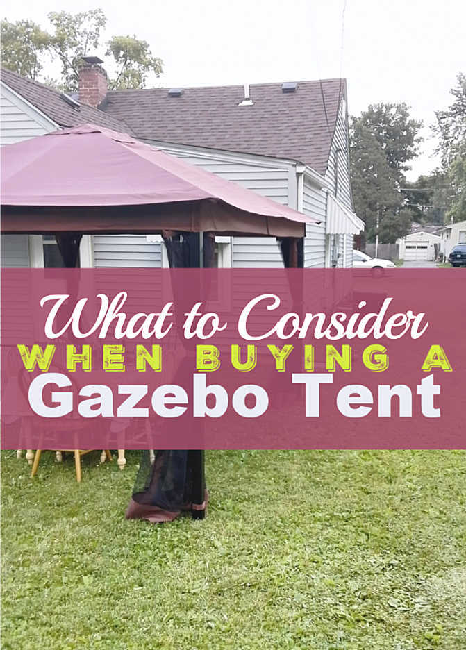What to Consider When Buying a Gazebo Tent