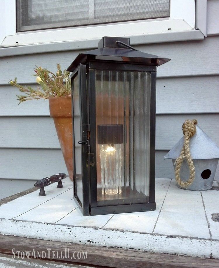 candle lantern repurposed solar light - StowAndTellU.com
