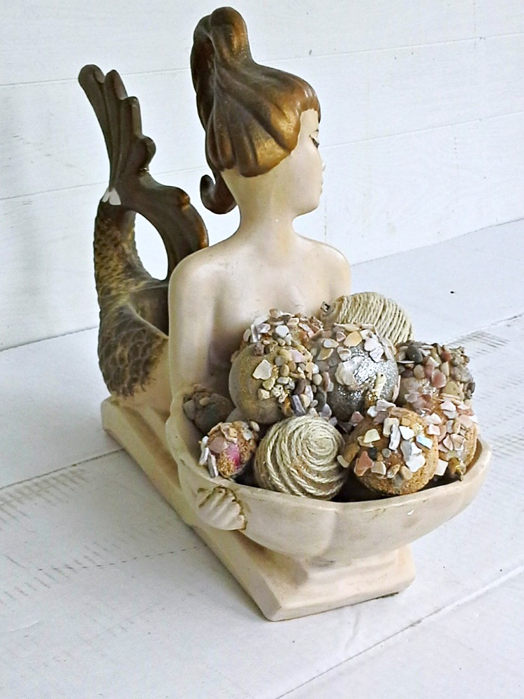 midcentury vintage mermaid statue - StowAndTellU.com
