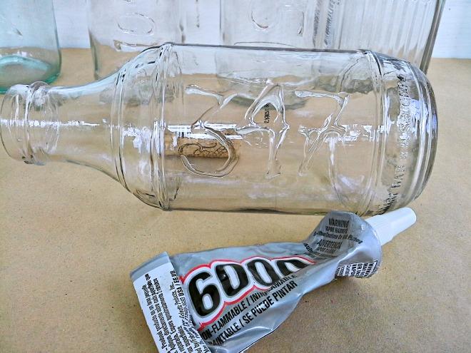 glue writing on bottles - StowAndTellU.com