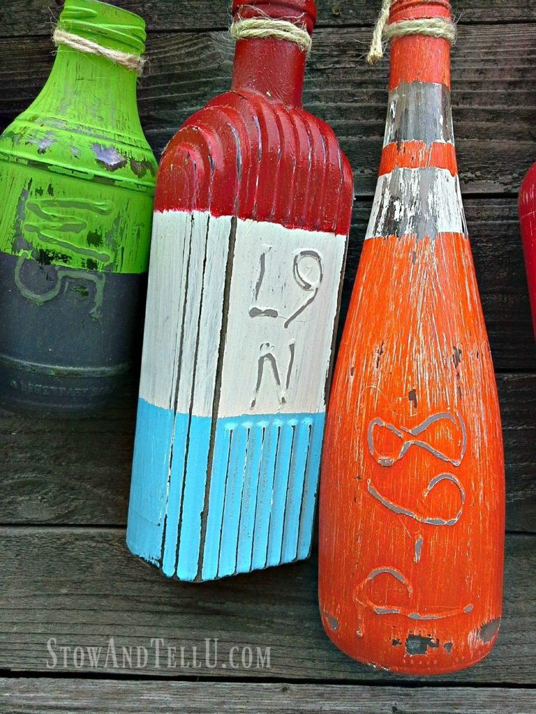 Make faux buoys or floats from bottles StowandTellU