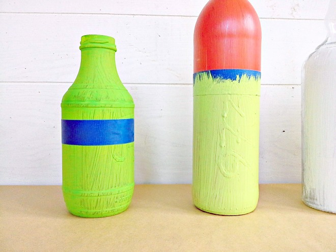 tape off sections bottle