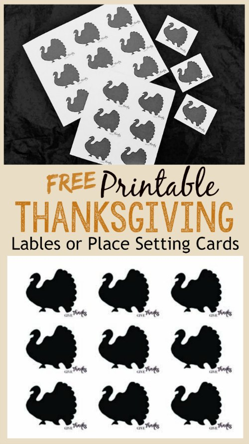 Free Printable Thanksgiving Leftover Labels and Place Setting Cards | stowandtellu.com