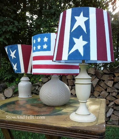10 Best crafty reused items - American flag solar lamps   StowandTellU.com
