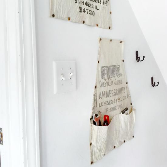 10 Best repurposing ideas 2016 - apron vertical storage   Stowandtellu.com